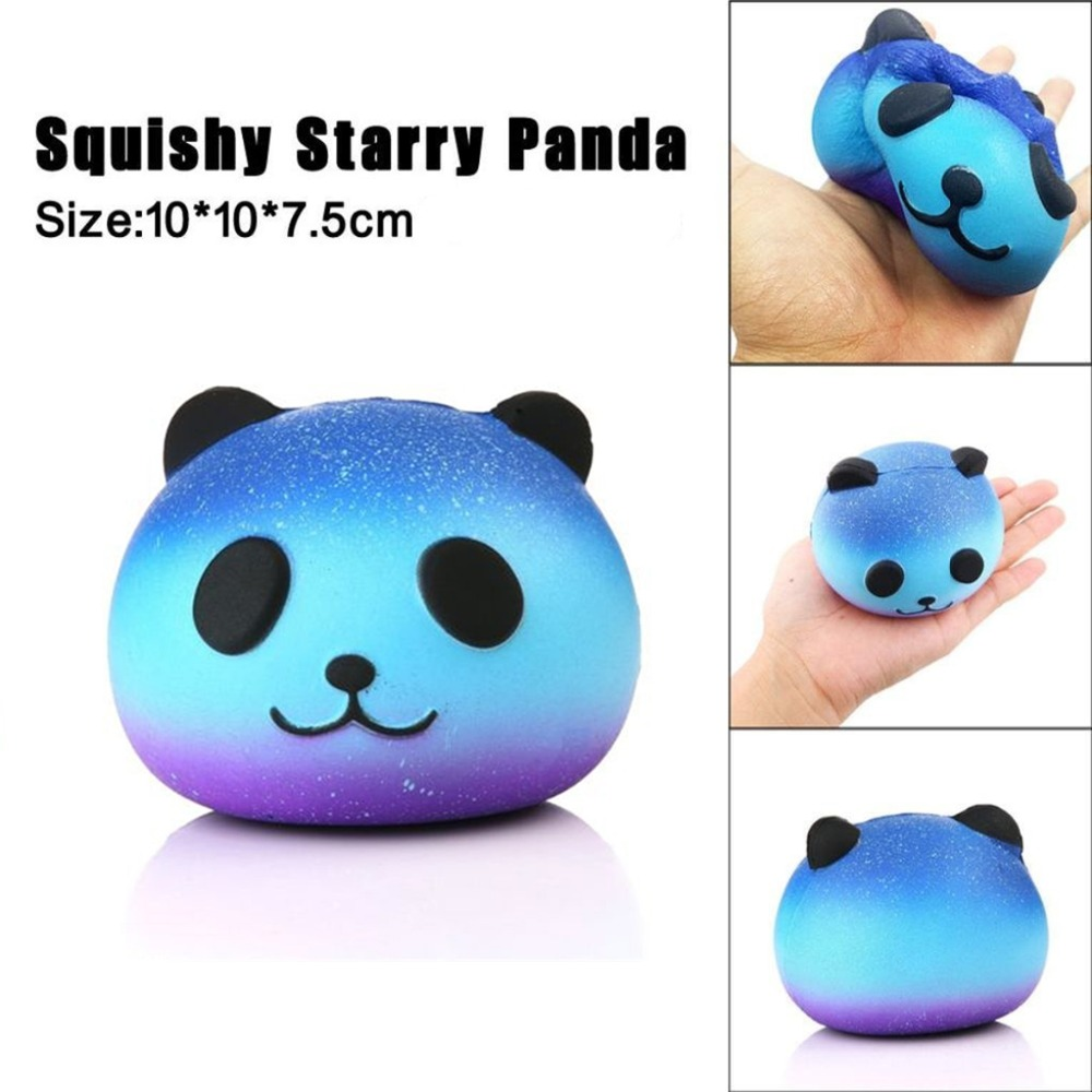 10CM Big Squishy Slow Rising Jumbo Lanyard Squishy Slow Rising Starry Sky Panda Squeeze Lanyard For Keys Groot Phone Strap