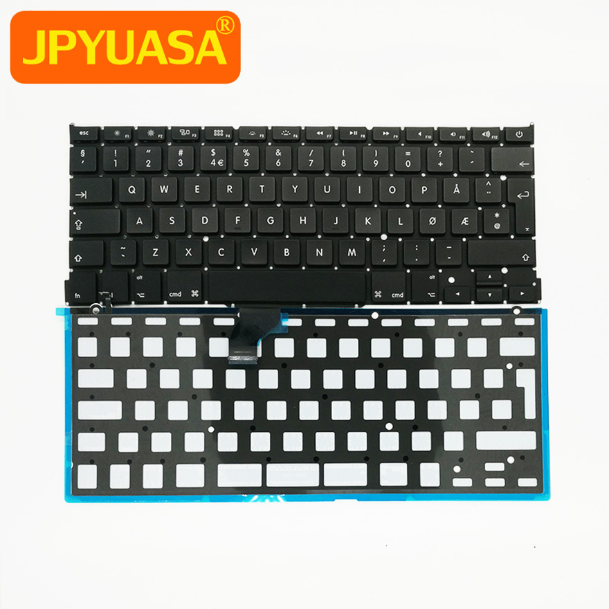 "5pcs/lot New For macbook Pro Retina 13"" A1502 Norway Norwegian Keyboard with Backlight 2013 2014 2015"