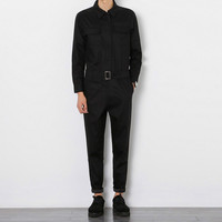Men Jumpsuit Male Long Sleeve A Piece Pants Overalls Tooling Casual Jumpsuit Hiphop Fashion Trousers