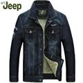 АФН JEEP 2016 новый мужская куртка джинсовая куртка осенью и зима короткий теплый случайные мульти-сумка джинсовая куртка 2 цвета 165