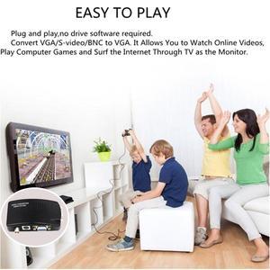 Image 5 - BNC S Video VGA to VGA 컨버터 박스 PC to TV VGA 입력 VGA 출력 PC 용 디지털 스위치 박스 MACTV 카메라 DVD DVR