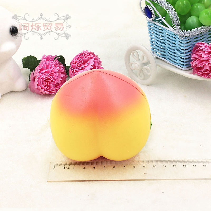 10CM PU Simulation Peach Squishy Slow Rising Cream Scented Fragrance Crafts Photography Props