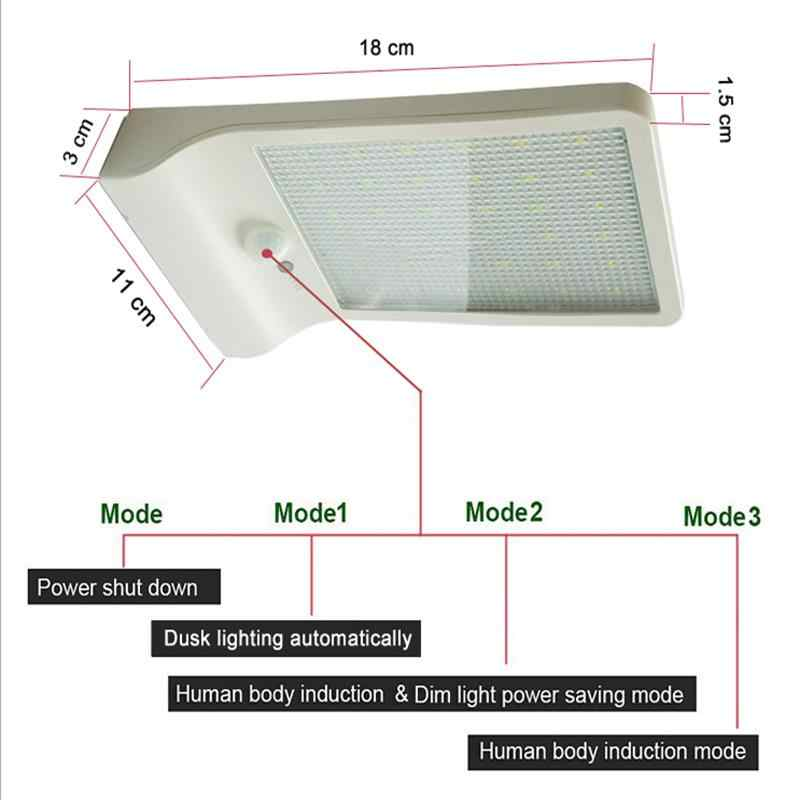 450LM 36 светодиодный светильник на солнечной энергии уличный свет PIR лампы для датчика движения садовая Лампа безопасности уличные водонепроницаемые настенные светильники