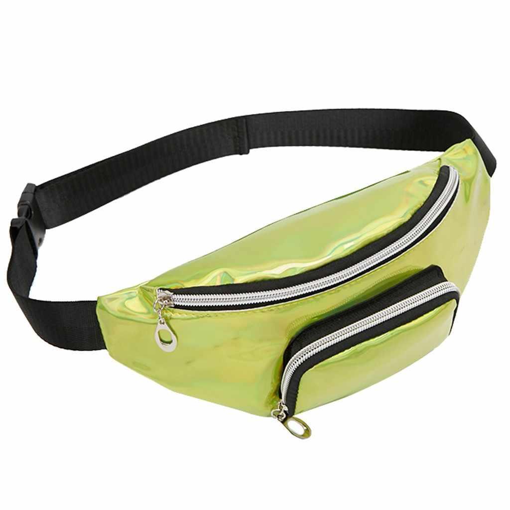 男性女性ユニセックスクロスボディバッグカジュアルスポーツ女性肩スパンコールウエストパック手紙財布携帯電話のメッセンジャーバッグ # DX