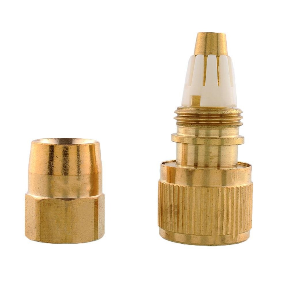 Brass lawn garden water tube pipe fitting tap fittings for Copper water pipe connectors