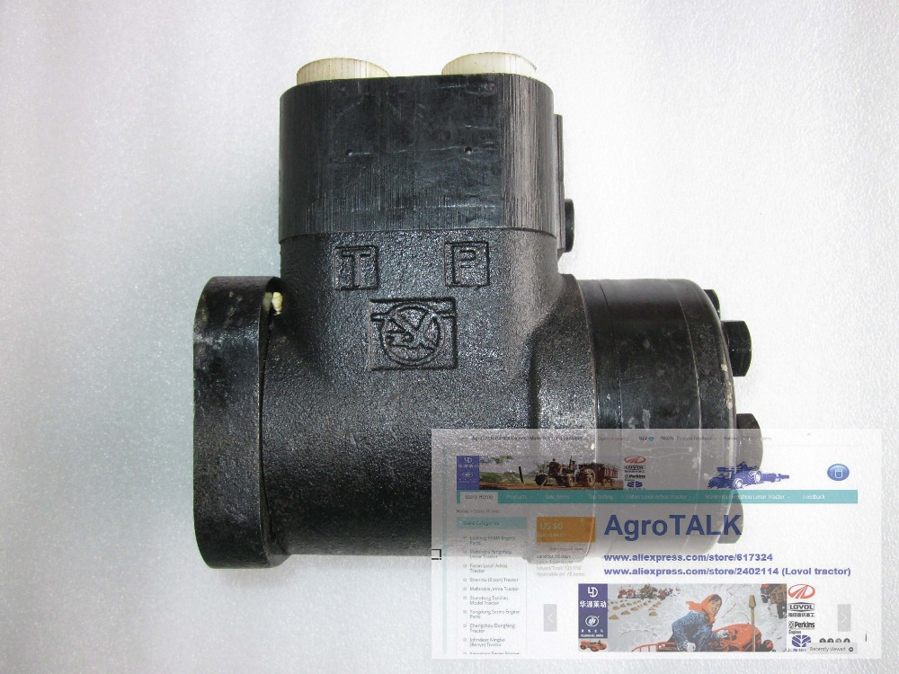 YTO X904 tractor parts, the Hydraulic steering gear, part number: 885140382/1.63.101 yto x904 tractor parts the auxiliary cylinder part number sz804 55 081