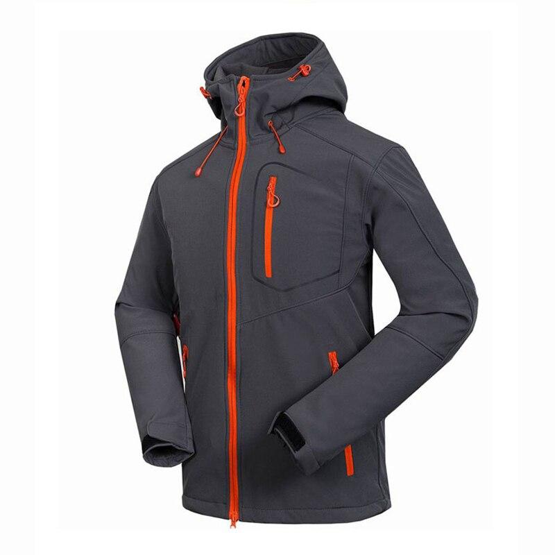 2018 veste Softshell homme coupe-vent imperméable randonnée vestes extérieur épais hiver Polartec manteaux Trekking Camping Ski