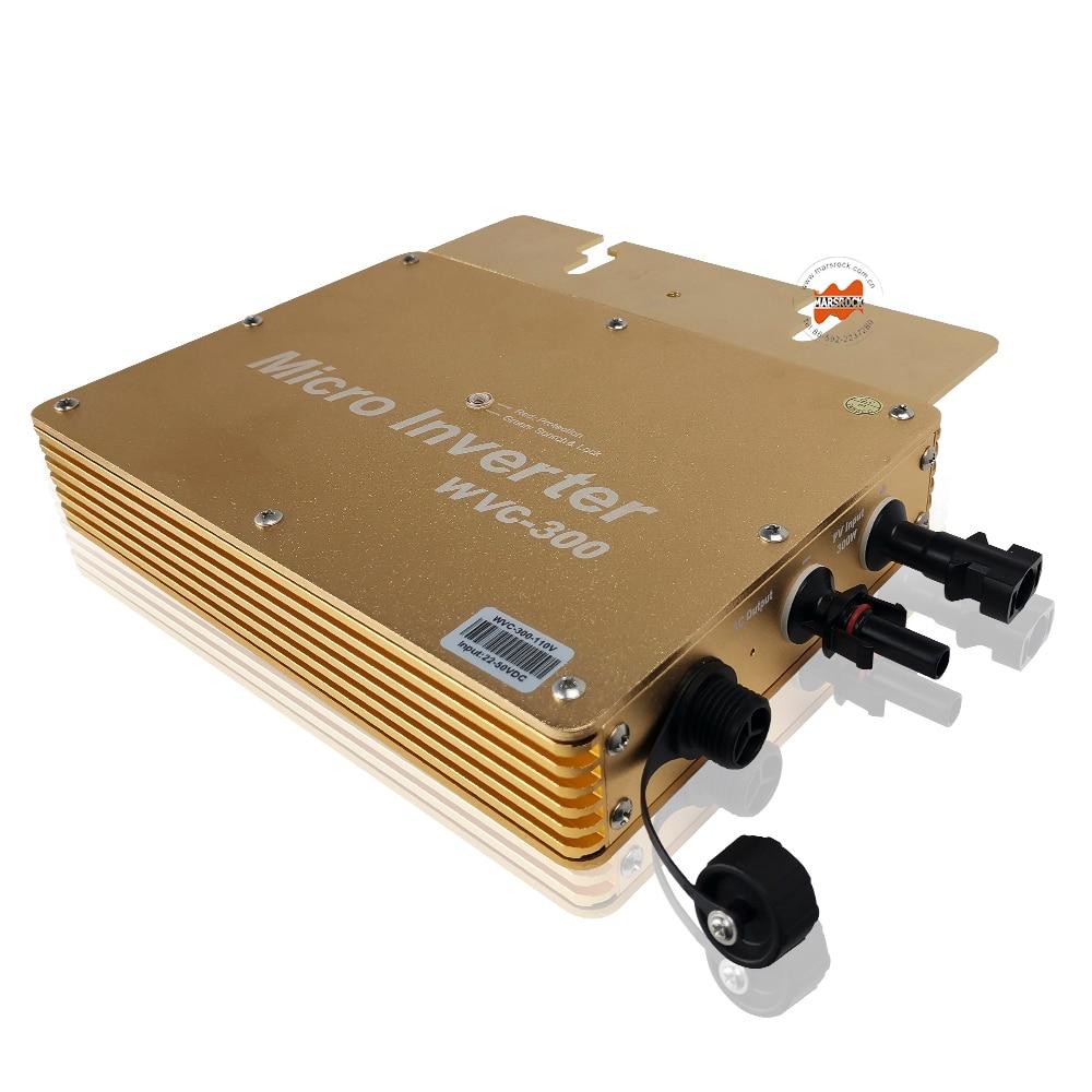 Waterproof IP65 300W Solar Output AC120V/230V Grid Tie Micro Inverter Inversor 300Watt For On Grid Solar Power System HomeWaterproof IP65 300W Solar Output AC120V/230V Grid Tie Micro Inverter Inversor 300Watt For On Grid Solar Power System Home