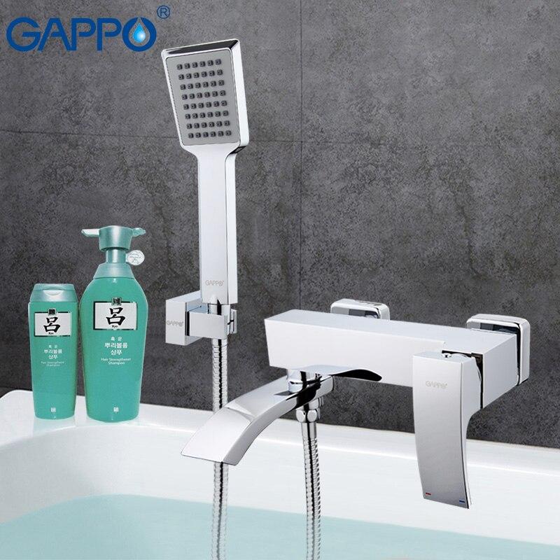GAPPO 1set Bathtub faucet mixer bathroom sink shower faucet brass waterfall torneira mixer bathtub sink tap in hand showerGA3207 shivers 64a hot cold waterfall bathroom bathtub set 3pcs bathtub lavabo ducha torneira plumbing sanitary mixer tap faucet