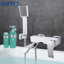 GAPPO 1 Unidades torneira cascada de latón Bañera grifo mezclador de lavabo del baño grifo de la ducha mezclador de la bañera del fregadero grifo en la mano showerGA3207
