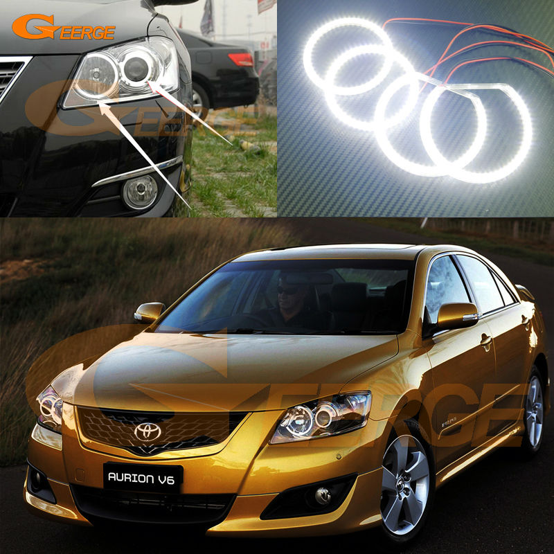 For Toyota Aurion CAMRY 2006 2007 2008 2009 Excellent Angel Eyes Ultra bright smd led Angel Eyes kit toyota camry