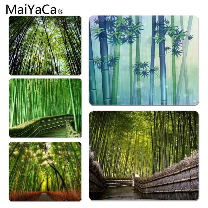 MaiYaCa Cool New Bamboo Forest Customized laptop Gaming mouse pad Size for 18x22cm 25x29cm Rubber Mousemats