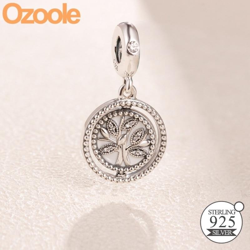 925 sterling silver FAMILY HERITAGE PENDANT CHARM fits european brand bracelet