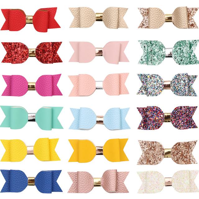 18 pcs. Glitter/Faux Leather Assorted Color Bundle Set