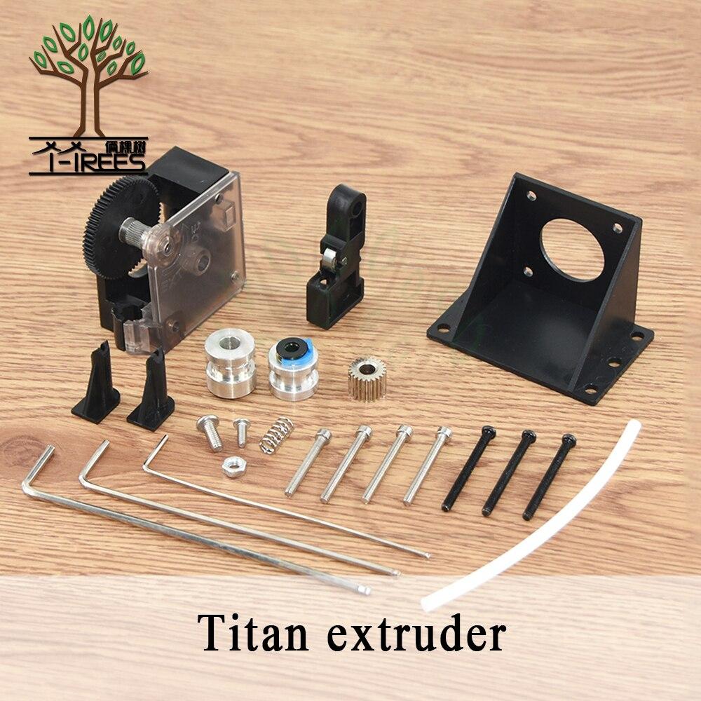 Titan Extruder Full Kit mit NEMA 17 Stepper Motor für 3D Drucker unterstützung sowohl Direkte Stick und Bowden Montage Halterung
