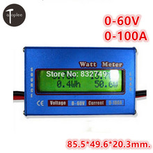 1PCS New Digital LCD For DC 60V 100A Balance Voltage RC Battery Power Analyzer LCD Watt Meter
