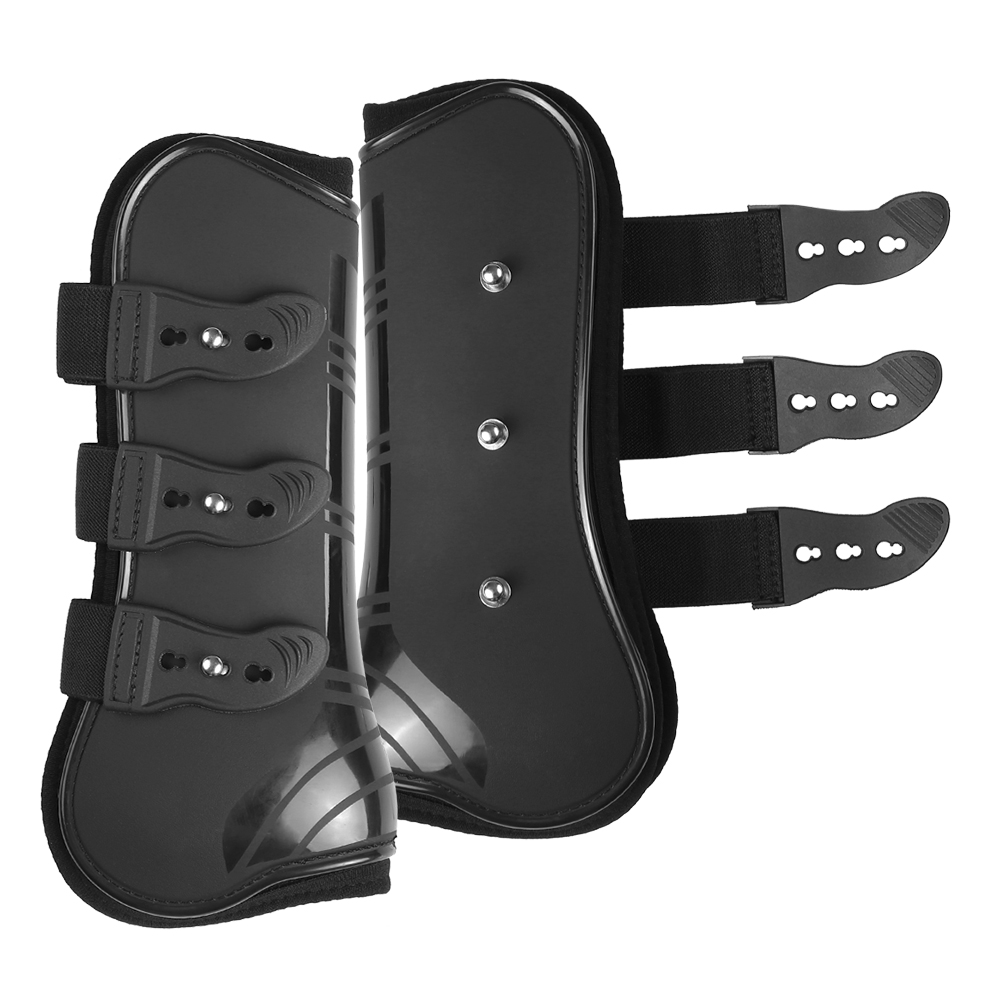 Image 2 - 4 PCS Front Hind Leg Boots Adjustable Horse Leg Boots Equine Front Hind Leg Guard Equestrian Tendon Protection Horse Hock Brace-in Horse Care Products from Sports & Entertainment