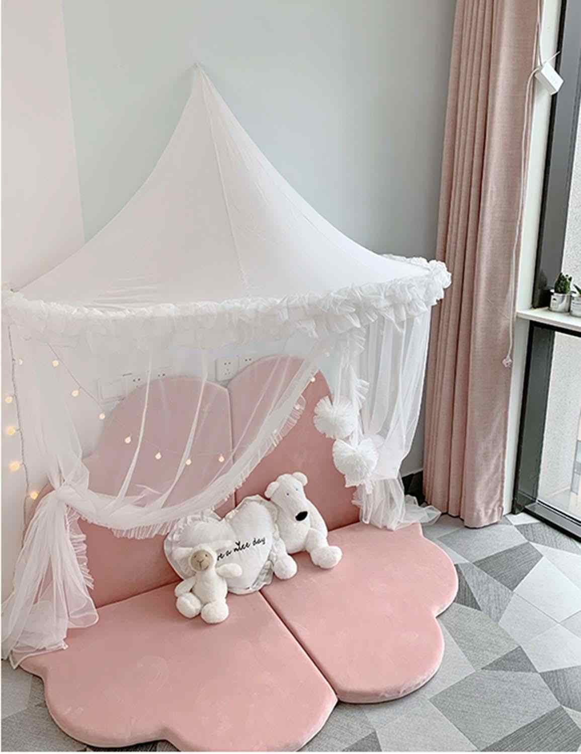 - Baby Mosquito Net Crib Netting White Canopy Bed Curtains Toddler