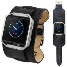 Excellente Qualité Supérieure De Luxe En Cuir Véritable Montre Bracelet Bande Pour Fitbit Blaze Smart Watch 2016 Nouveau