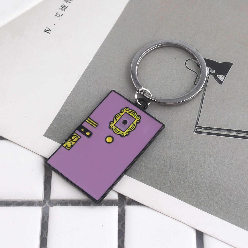 Vrienden Tv Monica 'S Deur Sleutelhanger Voor Mannen Vrouwen Dubbelzijdig Emaille Sleutelhanger Hanger Sieraden