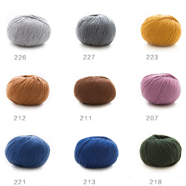 ab1aab71ad1 100% merino wool yarn hand knitting baby Kids soft thick yarn for knitting  threads hand