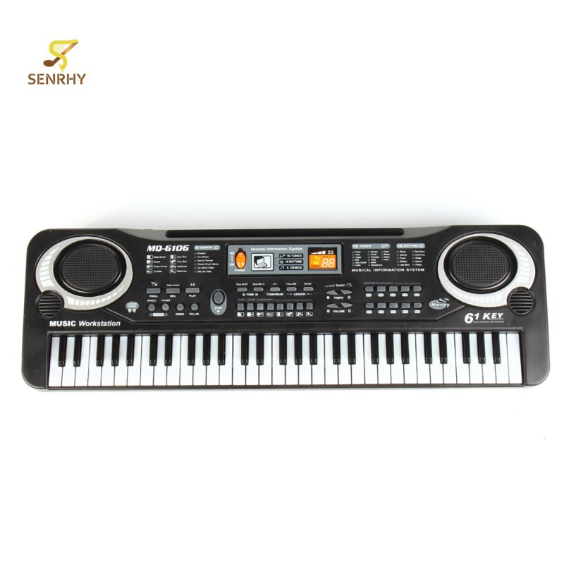 SENRHY 61 Touches Numérique Piano Électronique Clavier Piano Électrique avec Chargeur Microphone Orgue Électronique Pour Les Enfants Clavier