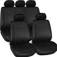 Fundas de coche universales accesorios de Interior de coche estilo 9 unids/set funda de asiento de coche suministro de cojín Anti barro almacenamiento bolsa de apoyo de asiento