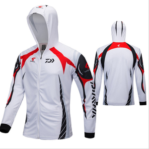 Image 3 - 3 Colors Available  DAIWA New outdoor fishing hoodie top quick drying breathable hiking trekking sunscreen fishing shirt