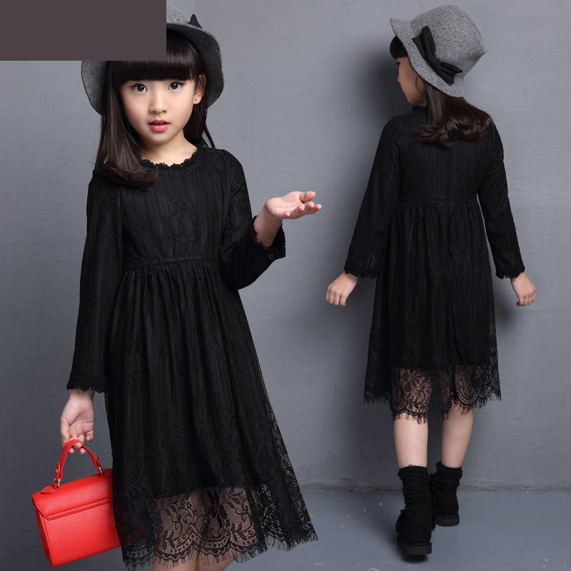2018 Fashion Toddler Baby Kids Girls Princess Dress Long Sleeve Velvet Warm Thick Black Lace Dress Cute Clothes Robe Fille 13 14 2016 winter new soft bottom solid color baby shoes for little boys and girls plus velvet warm baby toddler shoes free shipping