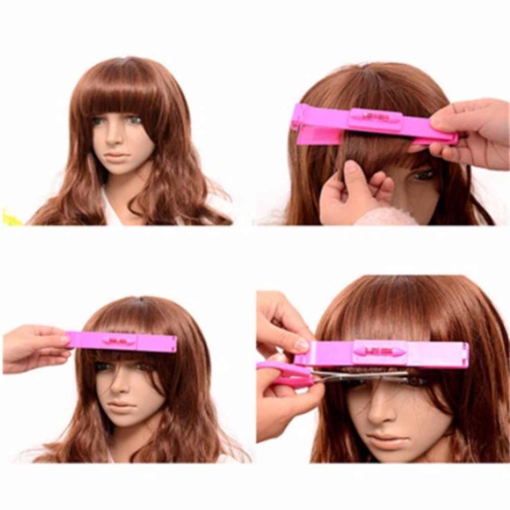 Profesyonel Saç Kesme Kılavuzu Cetveli Saç Patlama kesme tarağı Saç Trim Aracı Kılavuzu Yardım Saç Şekillendirici Aksesuar