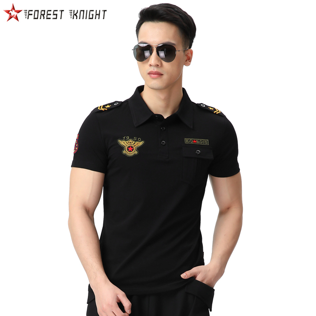 Cotton Polo Shirt Men Army Camping Hiking Outdoor Trekking Tactical Tops Tee Short Sleeve Leisure Sports Casual Male shirts Men