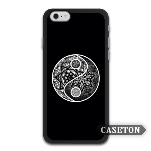Yin Yang Zentangle Chinese Traditional Taiji Art Case For iPhone 7 6 6s Plus 5 5s SE 5c 4 4s and For iPod 5