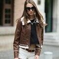 Вери гуд женская Искусственная Кожа Куртка Slim Fit Пальто Зимняя Куртка Женщин