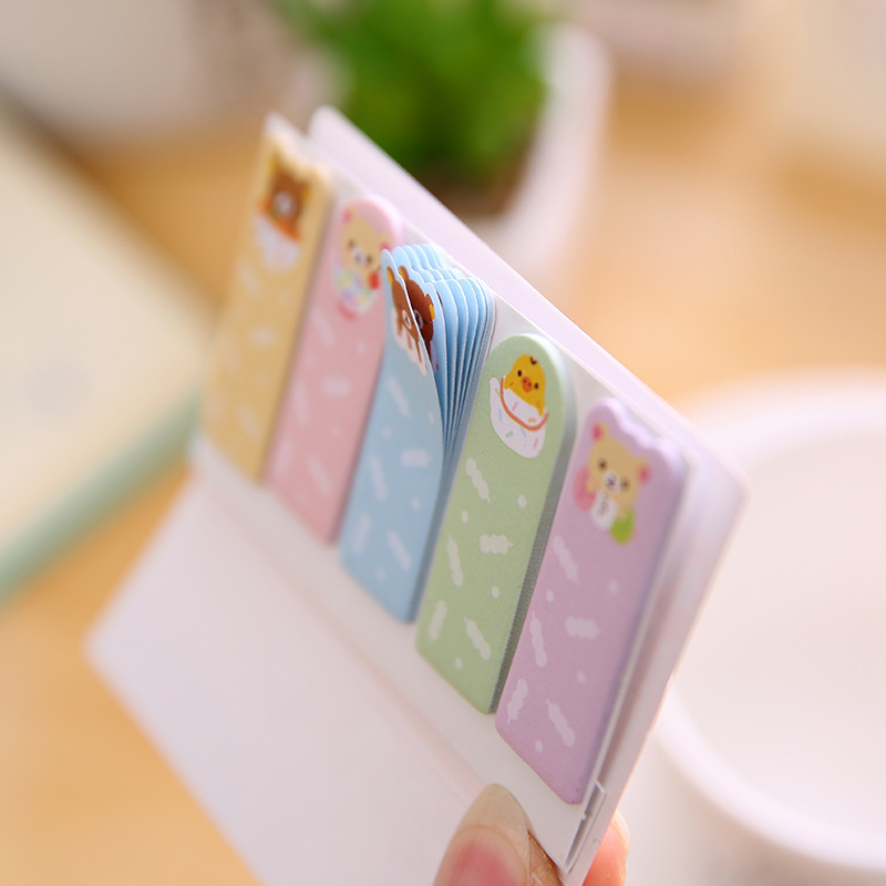 US $0 68 39% OFF|1 PCS New Cute Easy Bear Index Notes Memo Pad Sticky Notes  Memo Notebook Stationery Note Paper Stickers School Supplies-in Memo Pads