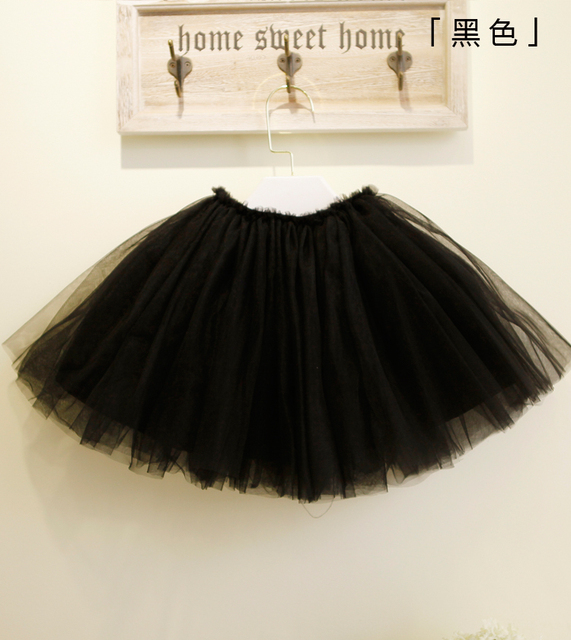 Girls summer tutu skirts children skirts baby net veil princess skirt short skirt solid color optional 6 free shipping