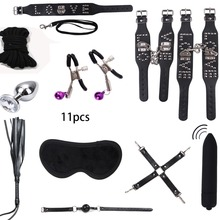 factory Outlet fine Sex Toys for Couples BDSM Sex Bondage Set Sexy Lingerie Handcuffs Collar Rope Anal Vibrator Sex sm Products
