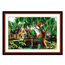 Joy Sunday cross stitch kits diy In the woods DMC14CT11CT cotton fabric livingroom hotel office painting factory wholesalerect