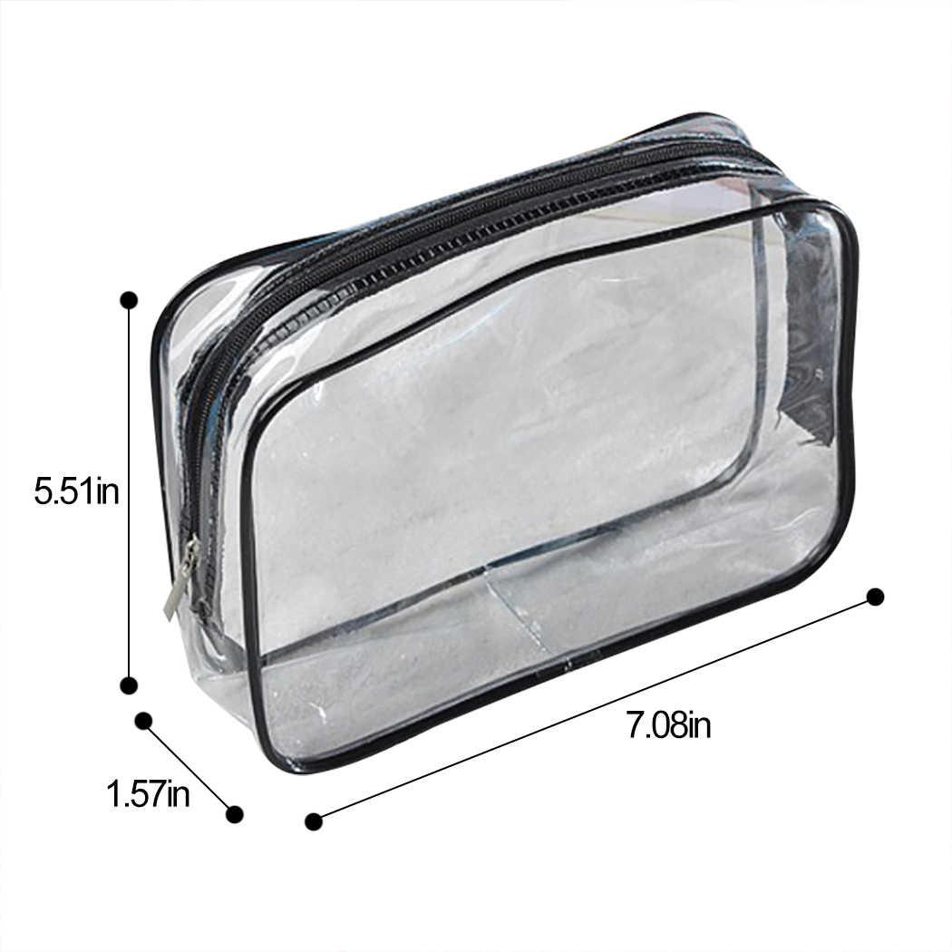 שקוף PVC שקיות נסיעות ארגונית ברור איפור תיק קוסמטיקאית תיק קוסמטי יופי מקרה טואלטיקה תיק איפור פאוץ לשטוף שקיות