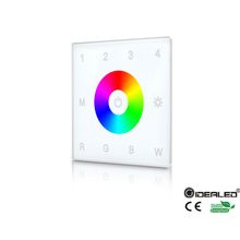 DIY home use 4-zone  touch panel RGB RGBW LED controller with Wall mounted for PWM dimmer led RGBW strip lights input DC5-24V