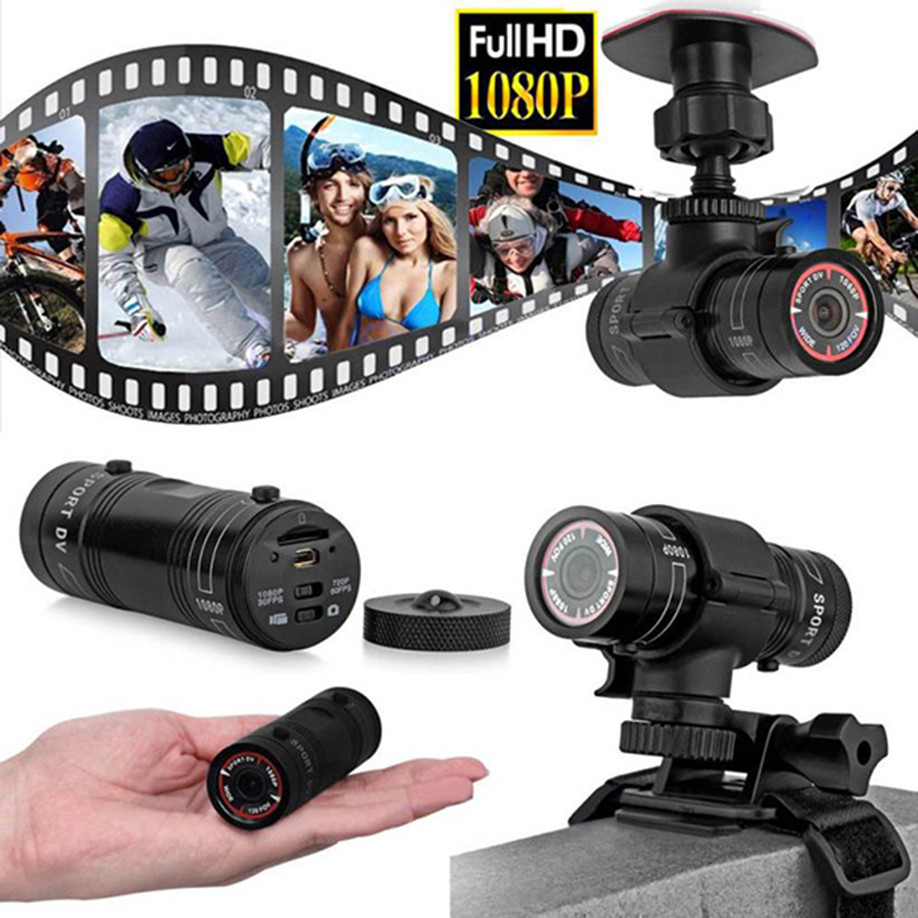 Full HD 1080P DV Mini Waterproof Sports Camera Bike Helmet Action DVR Video 32GB 120 degree wide angle lens Drop Shipping 2018