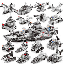 6in1 Boys military assembled aircraft ferry carrier Compatible city technic figures Bricks Educational Toy for children(China)