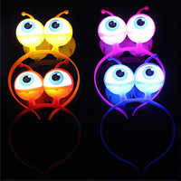 Saleaman 1Pc LED Glowing Big Eyes Toy Globes Eyepiece Headband Children Light Up Hats Party Wedding Glow in the Dark Toys Gift