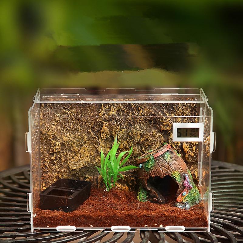 Террариум рептилия окно Terra разведение кольцо змея транспортировки рыбы инкубации Gecko Ящерица змея для инкубации яиц инструмент