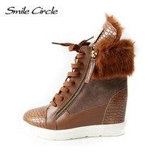 2018 buty zimowe damskie kliny trampki ciepłe długie pluszowe śniegowce szpilki damskie winda obuwie obuwie na co dzień