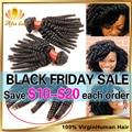 Rosa Hair Products Malaysian Afro Kinky Curly Virgin Hair,3 Pcs Malaysian Curly Human Hair Extension 8''-30'' Afro Kinky Hair