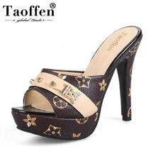 TAOFFEN Size 33-43 Women Sandals Sexy High Heels Women Slippers Party Shoes Women's Summer Sandals Heels Ladies Daily Footwear