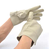 Free Shipping 2 Pairs Palm Thicken Refornced Gloves Genuine Leather Welding Protecting Gloves Short Type Hot