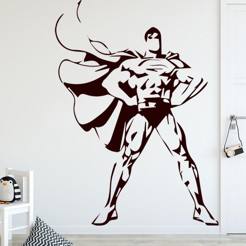 Superman Pattern Wall Sticker For Boys Bedroom Decoration