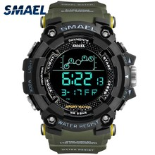 SMAEL Outdoor Running Sport Watches Men Water Resistant Shock Resistant Diver Digital Watch Alarm Chronograph Clock Male 1802(China)