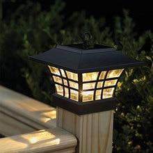 Fence Post LED solar lamp outdoor waterproof pillar garden energy wall lamps Landscape courtyard light household lampada fence